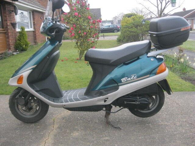 honda bali sj 50cc scooter 1998 model 2 owners vgc full 12. Black Bedroom Furniture Sets. Home Design Ideas