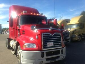 Call Syed 2013 Mack CXU613 with 60'bunk high rise Sleeper ,R-46