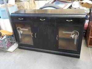Black Art Deco Cabinet Unit O'Connor Fremantle Area Preview