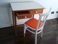 Retro style upcycled desk and chair