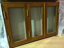 BIFOLD WINDOW SERVERY, SOLID CEDAR, 1500X1000H, 6mm SAFETY GLASS Vineyard Hawkesbury Area Preview