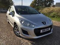 PEUGEOT 308 1.6 HDI S DIESEL 2011 *ONLY £20 A YEAR TAX, NEW MOT & SERVICE*