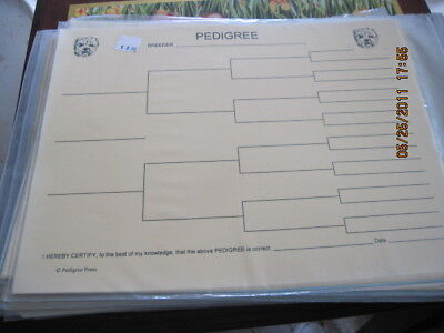 West Highland White Terr Blank Pedigree Sheets Pack 10