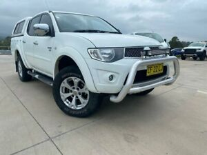 2012 Mitsubishi Triton MN MY12 GLX-R Double Cab 4x2 White 5 Speed Sports Automatic Utility Muswellbrook Muswellbrook Area Preview
