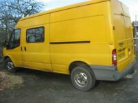 Ford Transit Van with side door window potential camper van conversion with accessories available