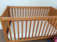 Child's cot bed - v good condition - mattress included if needed