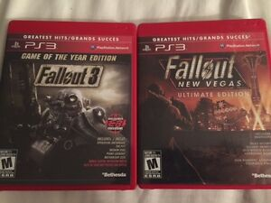 Both Fallout games and DLC for PS3