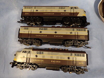 MTH O GAUGE No.20-80001 CANADIAN PACIFIC ABA F3 DIESEL LOCOMOTIVE SET