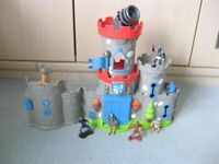 BOYS small folding plastic castle TOY / fort with figures - southbourne