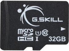 G.Skill 32GB microSDHC UHS-I/U1 Class 10 Memory Card with Adapter (FF-TSDG32GA-C