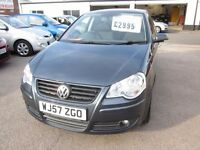 VOLKSWAGEN - POLO MATCH 2007 (57) MANUAL 1.4 PETROL 5 DOOR...............................£2,995.00