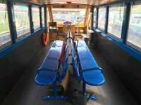 professionally refurbished canal passenger boat