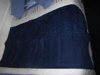 Dark blue Curtain panel - velvet type material, never used