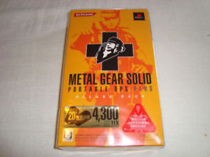 PSP METAL GEAR SOLID PORTABLE OPS PLUS DELUXE PACK NEW SEALED