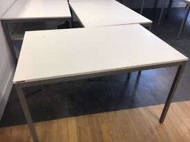 office furniture 1.4 meter white tables