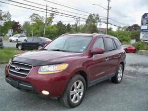 119$ BI WEEKLY OAC! 2008 SANTA FE LIMITED!!! LEATHER , MOONROOF!