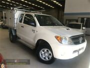 2007 Toyota Hilux KUN26R MY07 SR White Manual Cab Chassis Laverton North Wyndham Area Preview