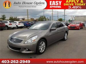 2012 Infiniti G37X LEATHER AUTO NAVI AWD B CAM EVERYONE APPROVED