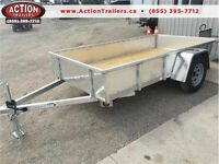 2016 All aluminum landscape 5 x 10 trailer with tail gate SAVE $