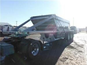 Tri axle Clam Dump gravel Trailers for Sale or Rent