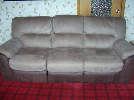 2 x 3 Seater Reclining Settees