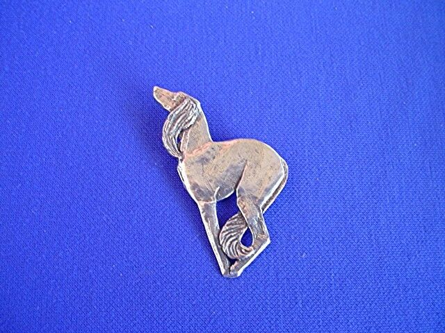 Saluki pin STYLIZED deco #15V Pewter sighthound DOG Jewelry by Cindy A. Conter