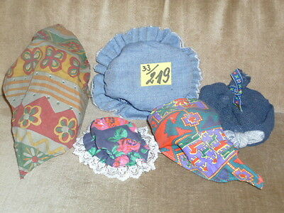 Puppen Hüte / 5 Stück  // für Puppen 20 - 30 - 40 cm ---- oder Taschen / Beutel