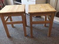Two small IKEA stools