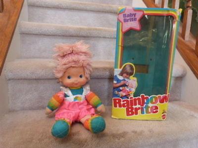 VINTAGE 1983 Rainbow Brite Baby Doll 9015 Mattel Hallmark 16