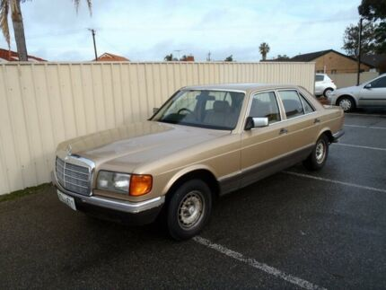 1982 Mercedes-Benz 280 W126 SE Gold 4 Speed Automatic Sedan Albert Park Charles Sturt Area Preview