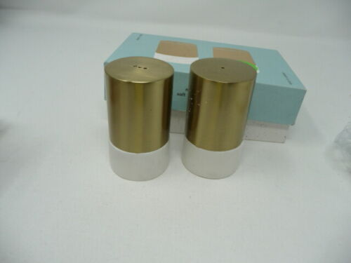 West Elm Marble and Brass Salt and Pepper Shakers