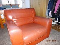 Single armchair for sale with foot stool
