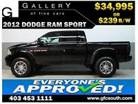 2012 DODGE RAM SPORT LIFTED *EVERYONE APPROVED* $0 DOWN $239/BW
