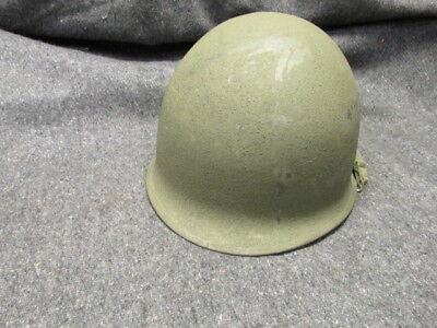 WWII U.S. M1 HELMET-FRONT SEAM-SWIVEL BAIL W/CHINSTRAP