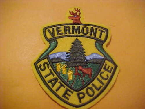 VERMONT STATE POLICE POLICE PATCH SHOULDER SIZE UNUSED FELT