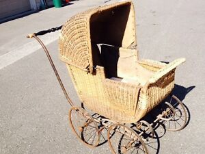 Antique Wicker Carriage