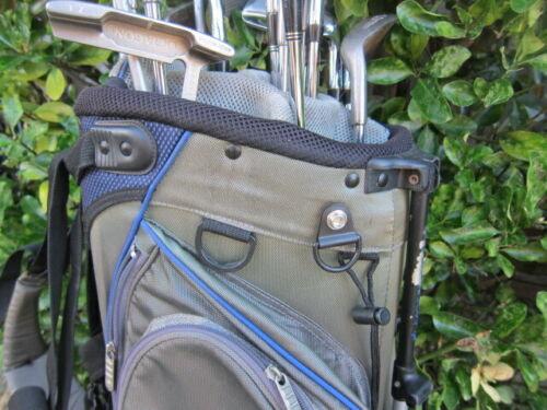 Four FabCaddy Blk Medium D-Ring Hangers (Golf Bag Cover Rain Snaps) Accessories