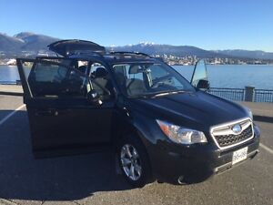 2015 BLACK SUBARU FORESTER TP - ORIGINAL OWNER, LOW KM's