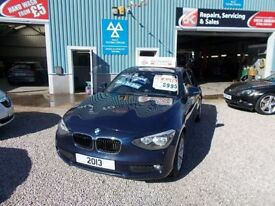 BMW 1 SERIES 2.0 118D SE 5d 141 BHP turbo diesel (blue) 2013