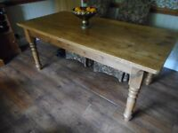 PINE WAXED DINING TABLE
