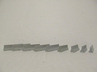9 DCP 1/64 SCALE  RESIN  GRAY TRAFFIC BARRIERS