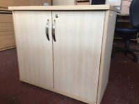 Wooden Office Desk High Extension Filing Cabinet/Storage with Extra Working Surface 80x80cm