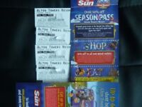 FOUR ALTON TOWERS TICKETS FOR SATURDAY 26TH MAY 2018 ADMITS ADULT OR CHILD