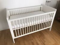 Cot/Junior bed+mattress - Mamas & Papas - £50 ONLY!