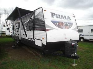 2016 Puma 30RKSS Rear Kitchen Travel Trailer with Slide Stratford Kitchener Area image 1