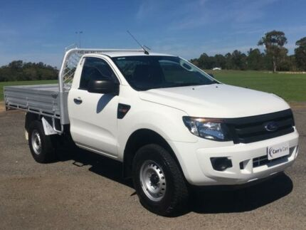 2013 Ford Ranger PX XL White 6 Speed Manual 2D Cab Chassis Erina Gosford Area Preview