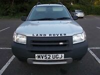 LAND ROVER FREELANDER 1.8 GS ESTATE 52 REG,, NICE CLEAN FAMILY CAR, GOOD DRIVER,, MOT DECEMBER 2017