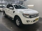 2014 Ford Ranger PX XLS 3.2 (4x4) White 6 Speed Automatic Dual Cab Utility Beresfield Newcastle Area Preview