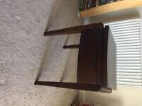 Waldorf dark wood small lamp table (Bluebone)