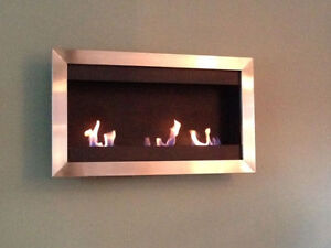 "Ethanol Fireplace 43"" wide x 25"" high - REDUCED TO SELL"